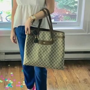 Gucci GG plus large print tote